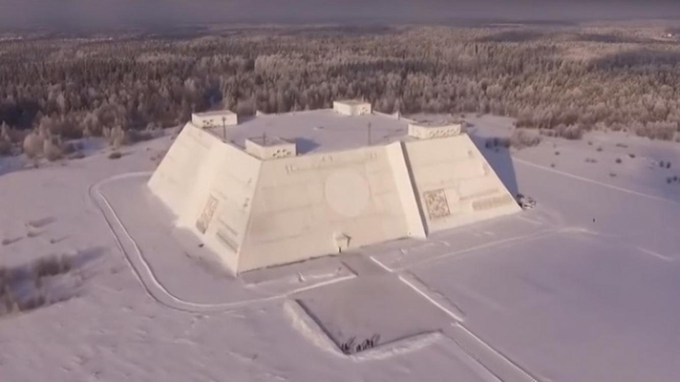 Un drone registró espectaculares imágenes del radar Don-2N