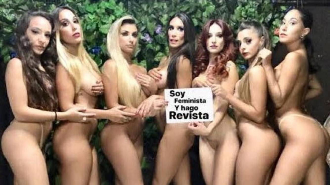 Las vedettes de Cocodrilo respaldaron a Santiago con una foto desnudas