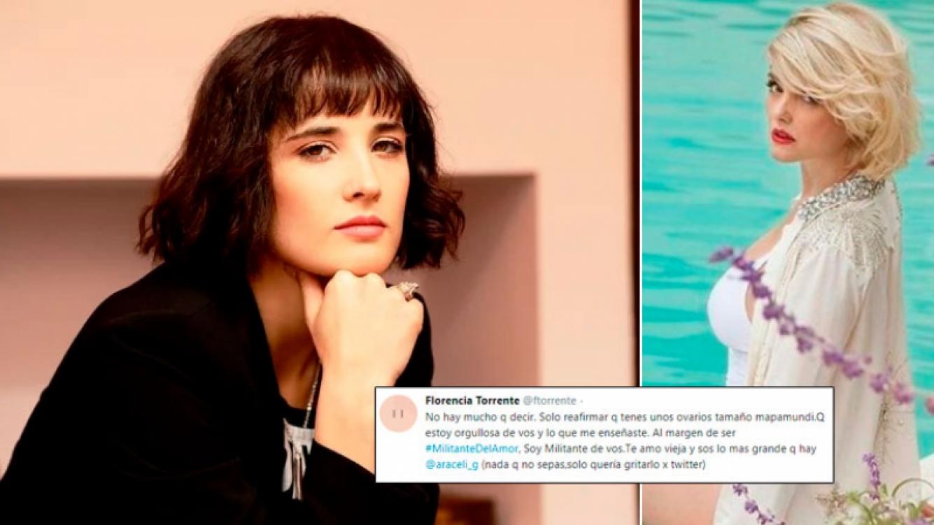 El rotundo apoyo de Florencia Torrente a Araceli González tras la polémica sobre el feminismo