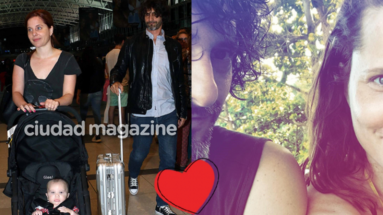 Agustina Kämpfer y su novio, enamorados en Brasil (Fotos: Archivo Ciudad e Instagram).
