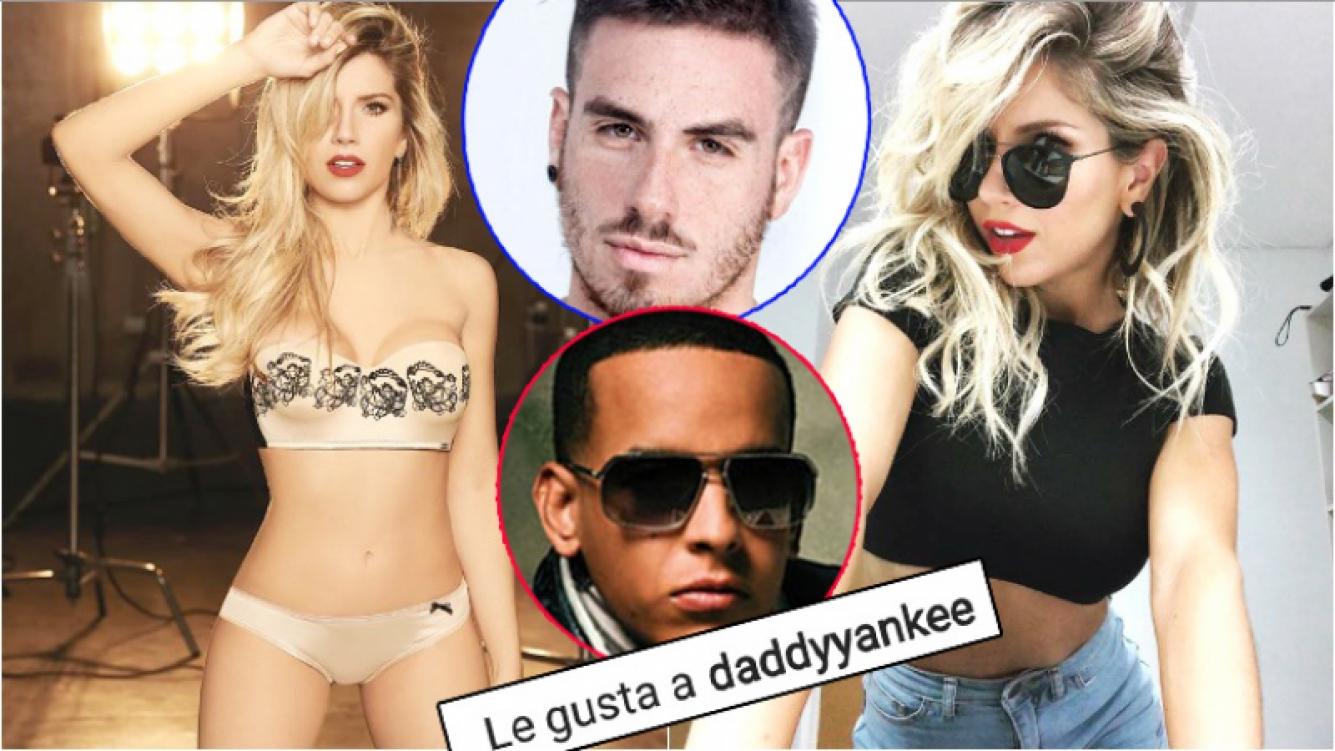 """El sugerente """"me gusta"""" de Daddy Yankee a una foto de Laurita Fernández en ropa interior (Fotos: Instagram y Web)"""