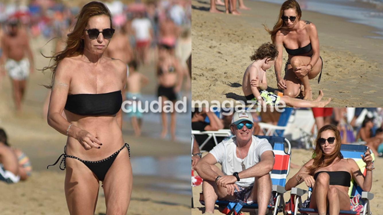 Analía Franchín, diosa en sus vacaciones familiares (Fotos: GM Press Punta).