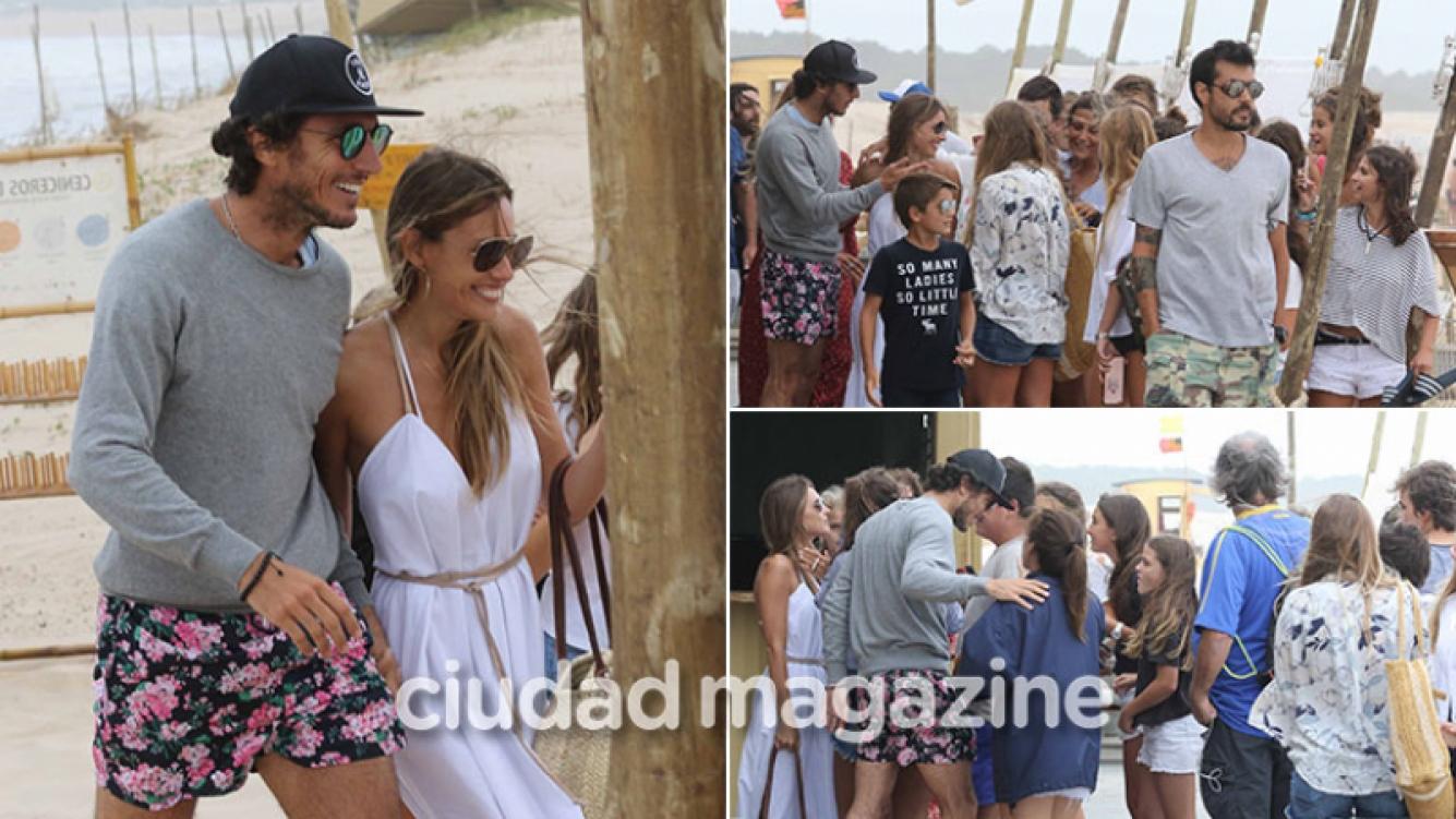 Pampita y Pico Mónaco, revolucionaron Punta del Este: almuerzo en la playa y encuentro con sus fans