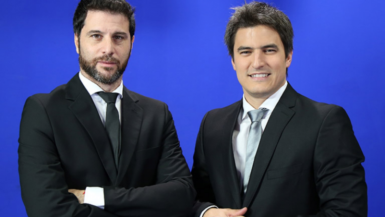 Rodolfo de Paoli y Ariel Senosiain, la dupla de relator y comentarista que estará en las transmisiones de los partidos de Argentina en Rusia 2018.