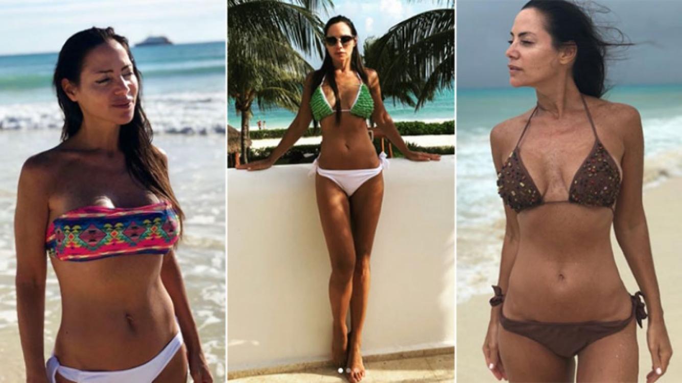 Natalia Fassi, súper diosa en bikini en la paradisíaca Playa del Carmen: El mar nos llena de energía