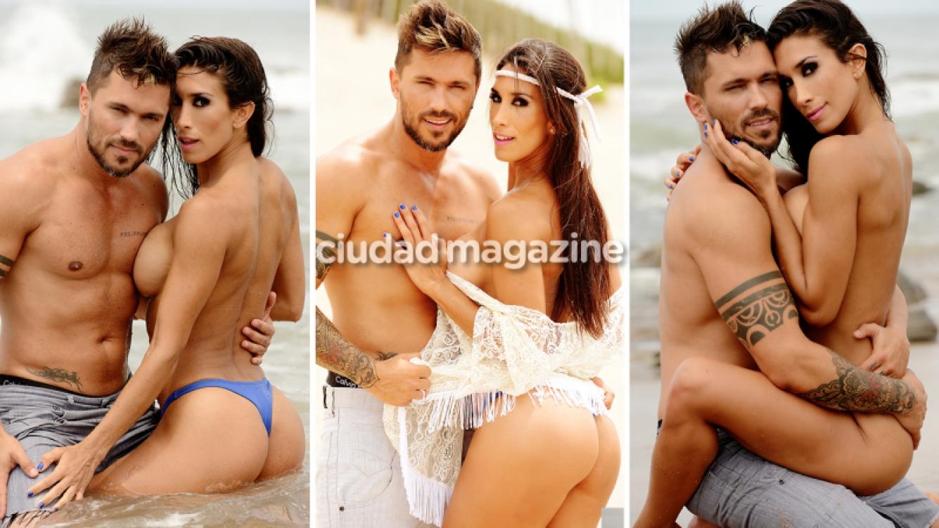 Flor Marcasoli y Bam Bam Morais, la pareja más hot de Mar del Plata. (Fotos: Musepic)