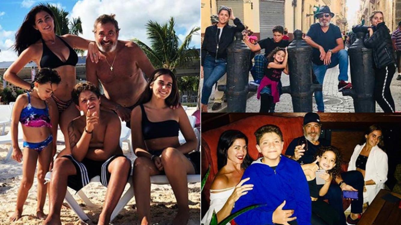 Pamela David, relajada con su familia en sus vacaciones (Fotos: Instagram).
