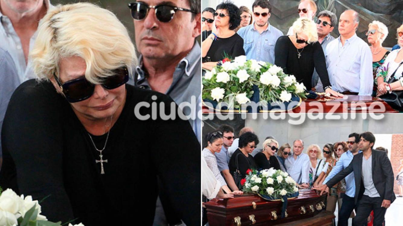 El doloroso último adiós de Carmen Barbieri a su madre, Ana Caputo Foto: Movilpress)