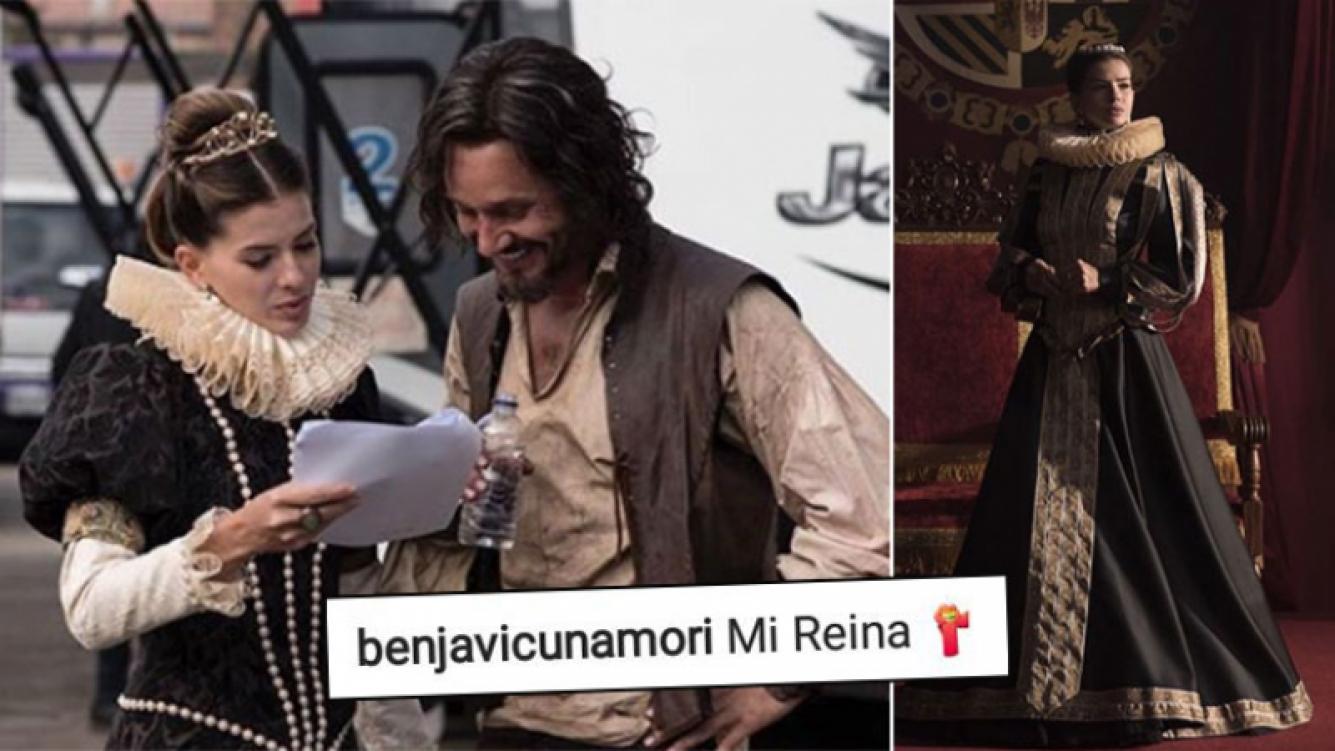 El tierno comentario de Vicuña a China Suárez en una foto en pleno backstage: Mi reina