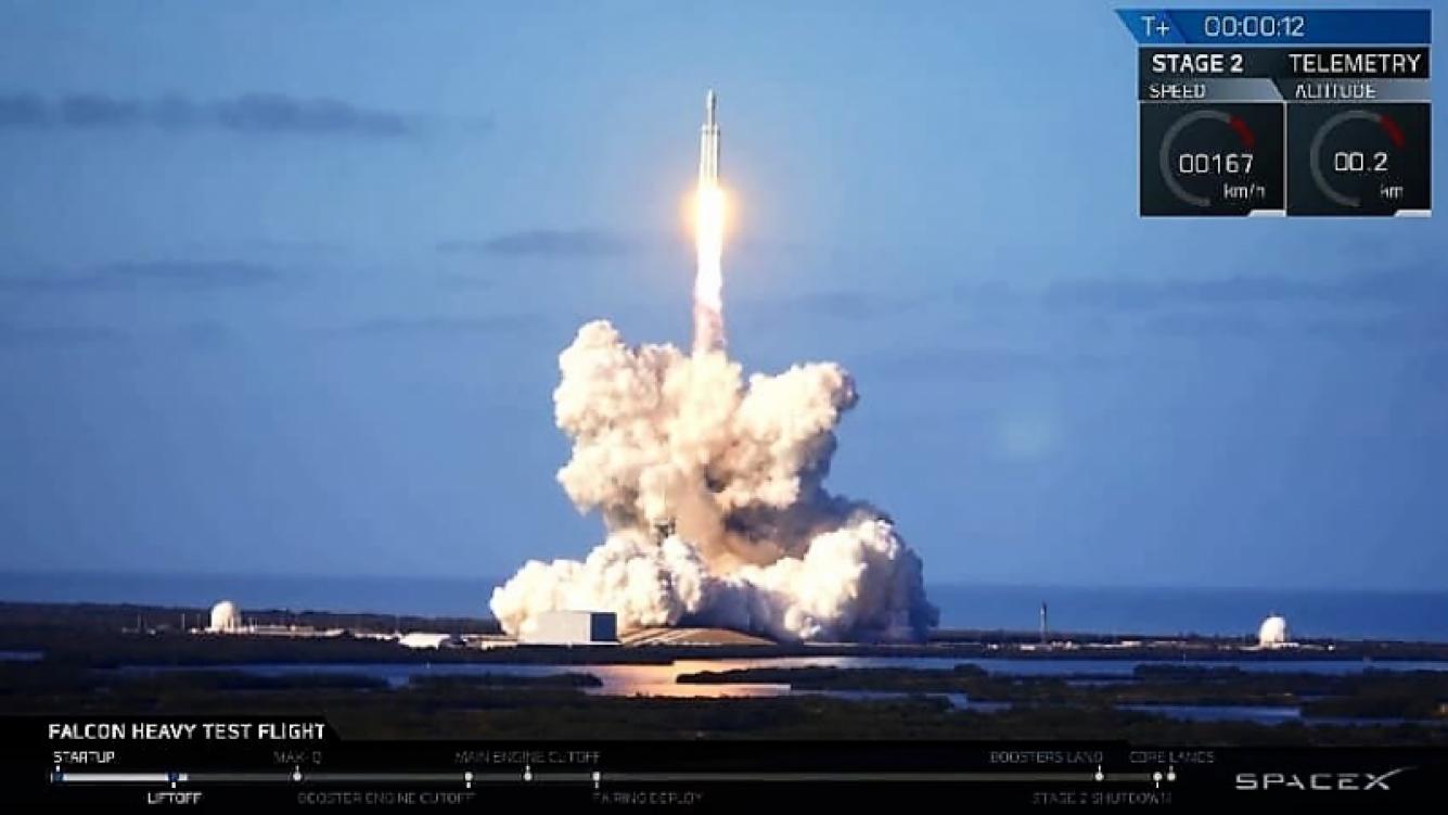 Lanzaron con éxito el cohete Falcon Heavy a Marte