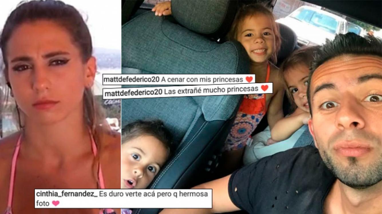 El reencuentro de Matías Defederico con sus hijas