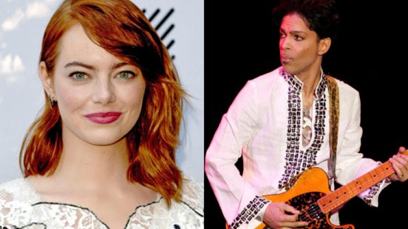 Emma Stone actuó junto al legendario Prince