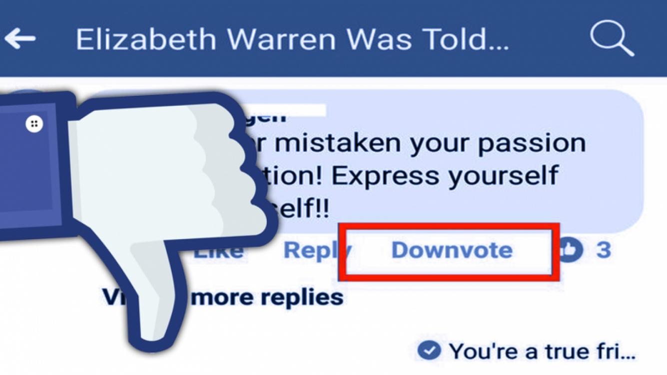 Facebook prueba un nuevo botón en los comentarios: downvote
