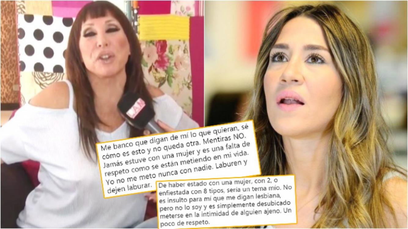 """El fuerte descargo de Jimena Barón luego de que Moria Casán asegurara haberla visto en una """"situación amorosa con otra mujer"""" (Fotos: Captura y Web)"""