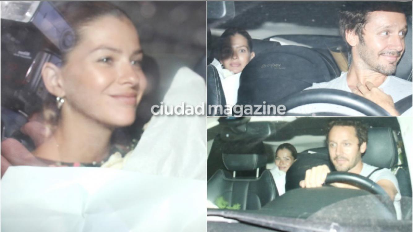 La China Suárez y su hija, Magnolia, recibieron el alta y dejaron la clínica junto a Benjamín Vicuña (Fotos: Movilpress)