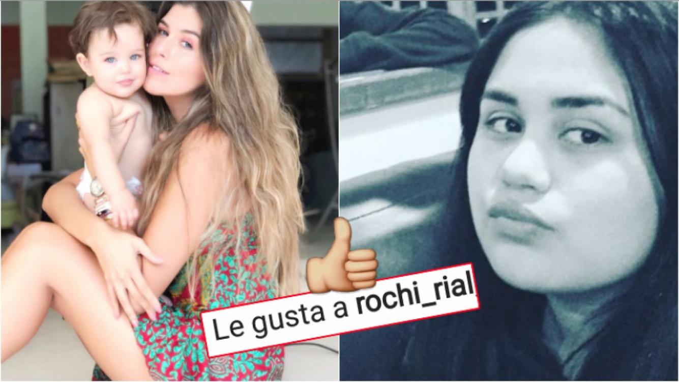 """El """"me gusta"""" de Rocío Rial a una foto que Loly Antoniale publicó en Instagram (Fotos: Instagram)"""