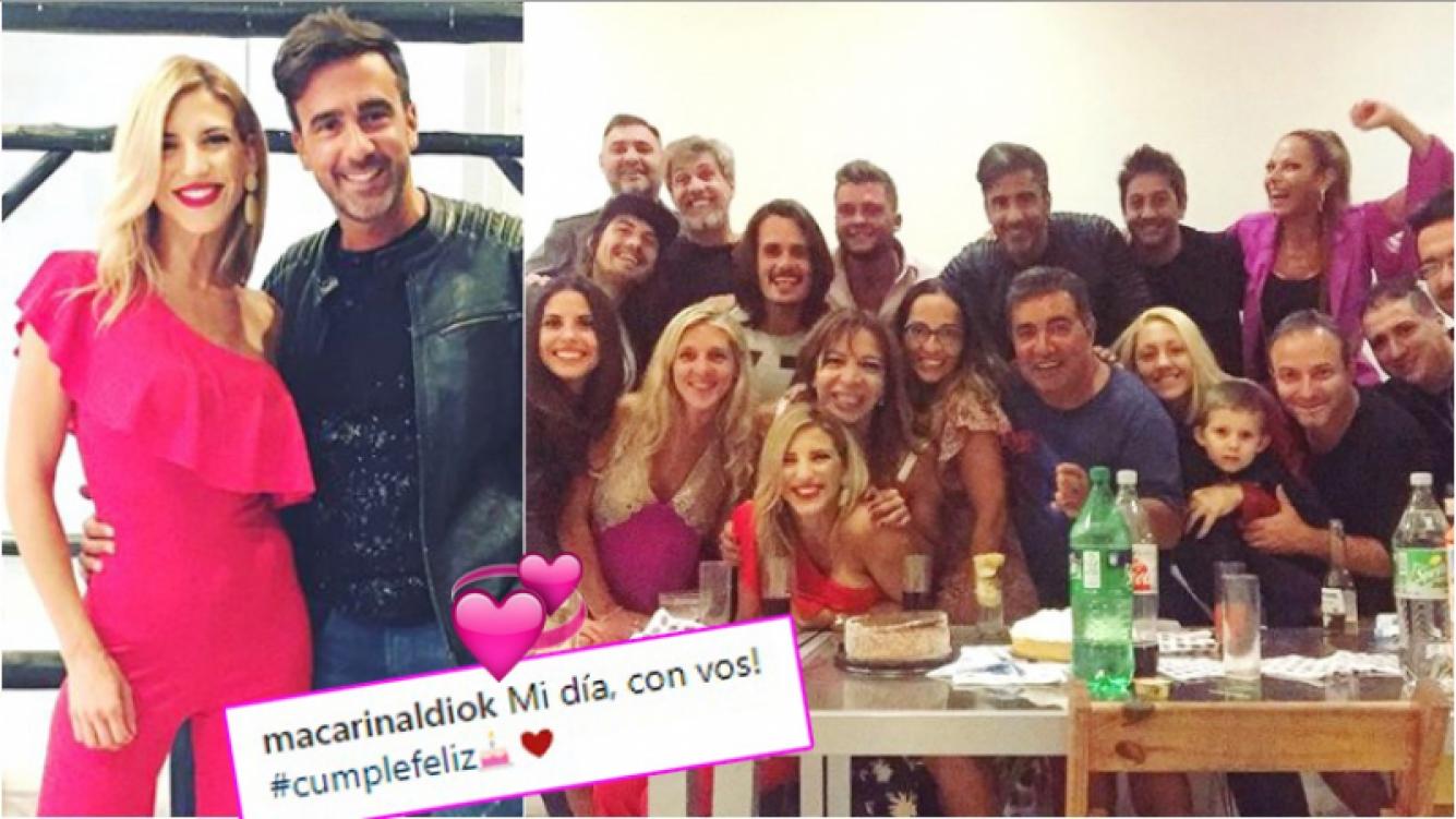 La romántica postal de Macarena Rinaldi con Federico Hoppe en el día de su cumpleaños (Fotos: Instagram)