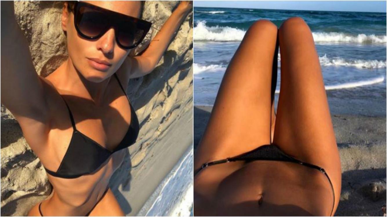 ¡Lluvia de corazones! Las selfies súper hot de Pampita en Miami: lomazo en bikini sobre la arena