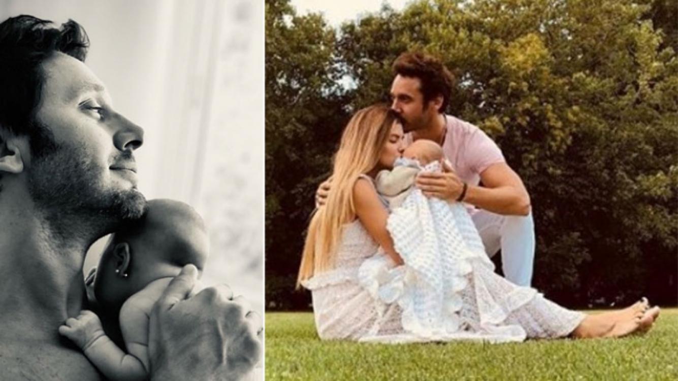 La foto más tierna de Benjamín Vicuña junto a Magnolia en brazos