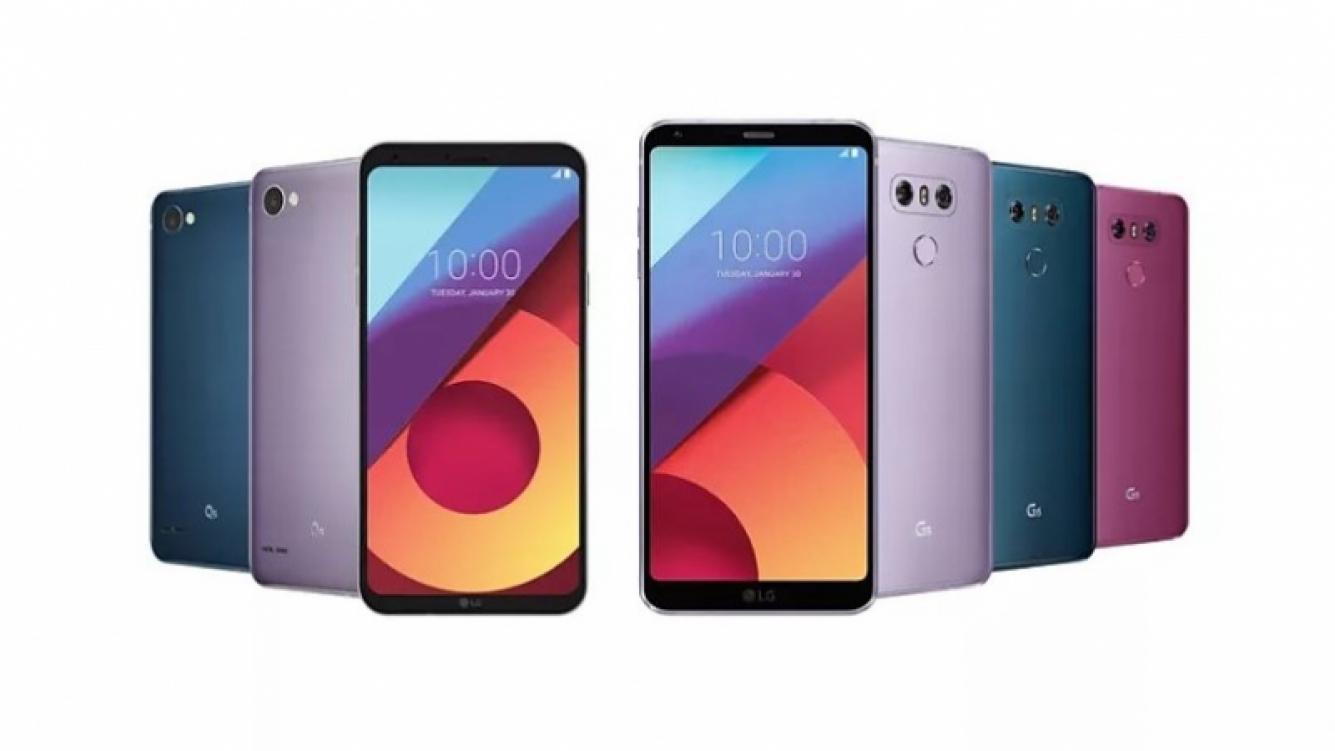 LG anunció una nueva gama de colores para sus G6 y Q6