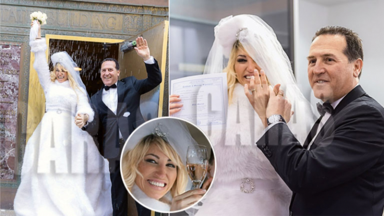 Vicky Xipolitakis y Javier Naselli se casaron en Nueva York. (Foto: revista Caras)