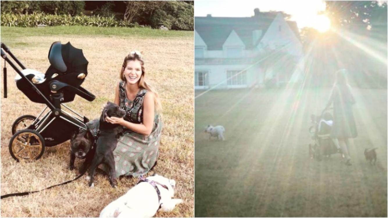 La foto de la China Suárez con Magnolia paseando al aire libre en su cochecito (Fotos: Instagram)