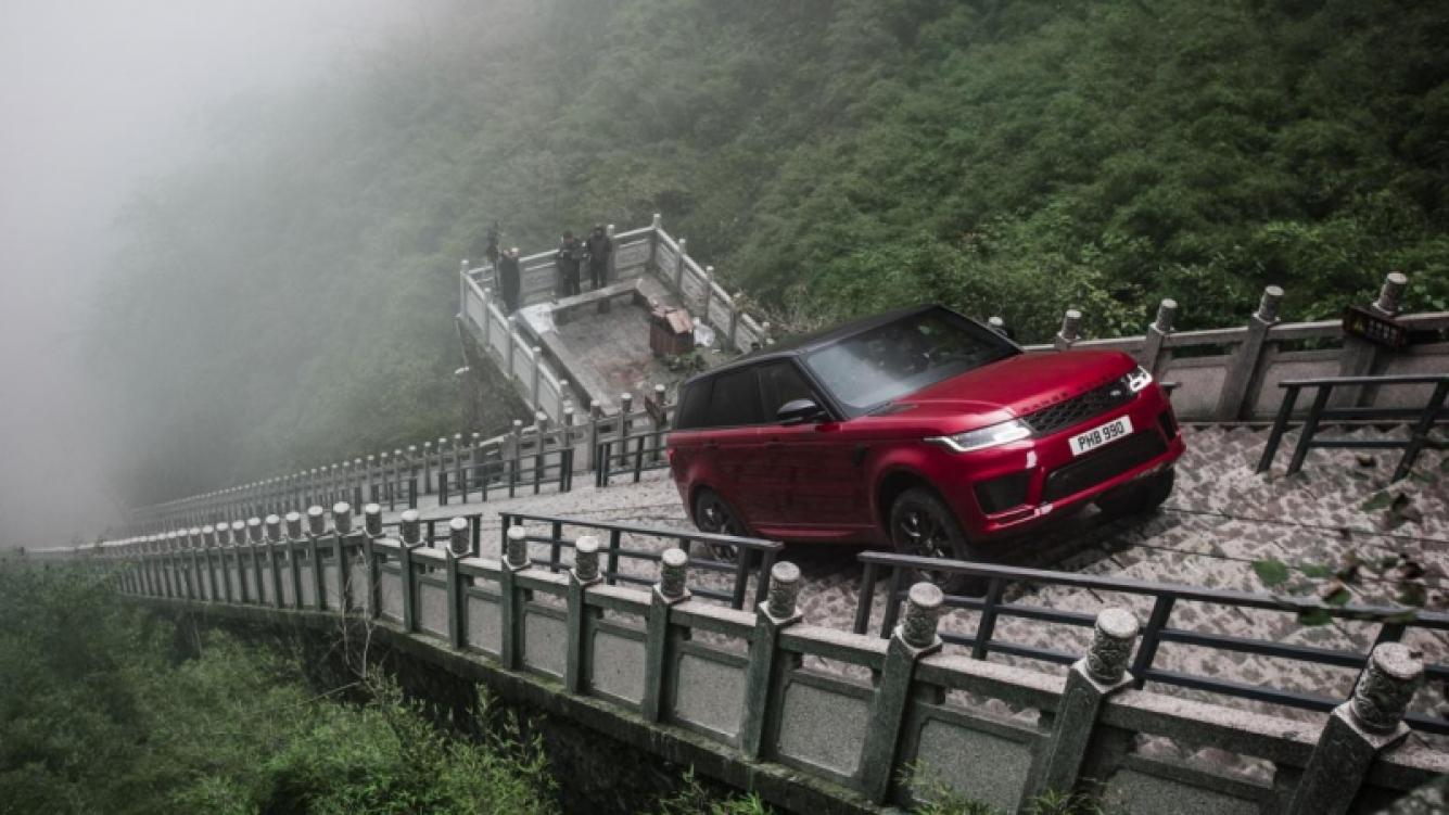 Range Rover Sport luchó contra la carretera dragón en China