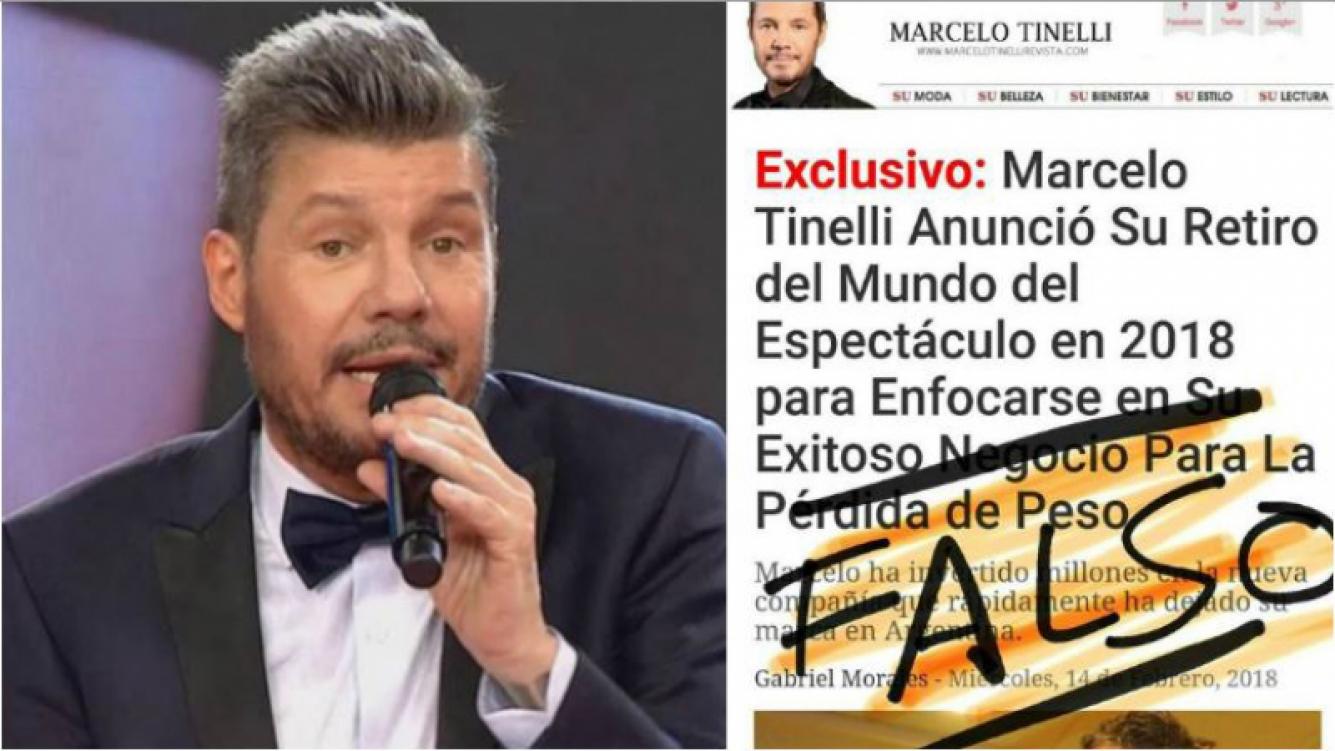 La furia de Tinelli por una noticia falsa que anuncia su retiro de la TV… ¡para dedicarse a vender una pastilla...