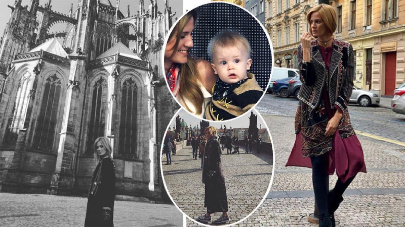 Paula Chaves viajó a Praga junto a Baltazar por trabajo. (Fotos: Instagram)