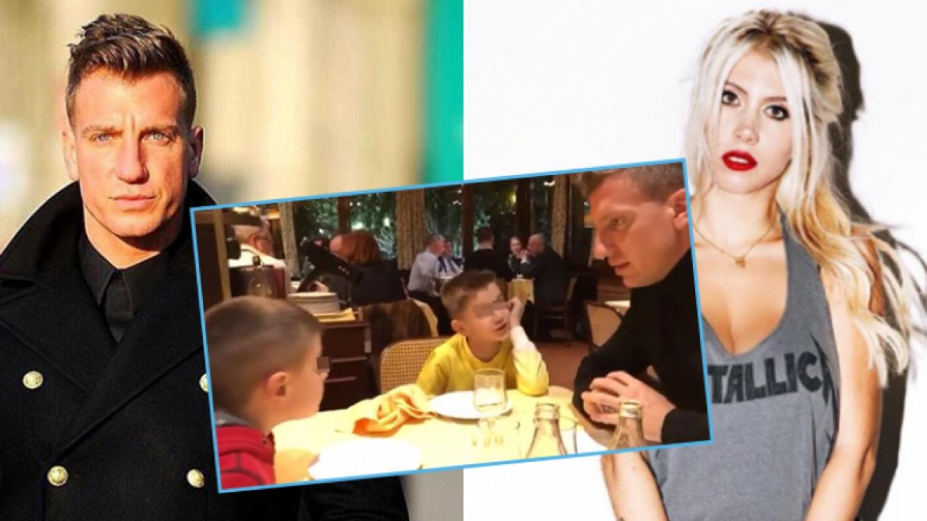 """Maxi López y un """"palito"""" a Wanda Nara por sus hijos."""