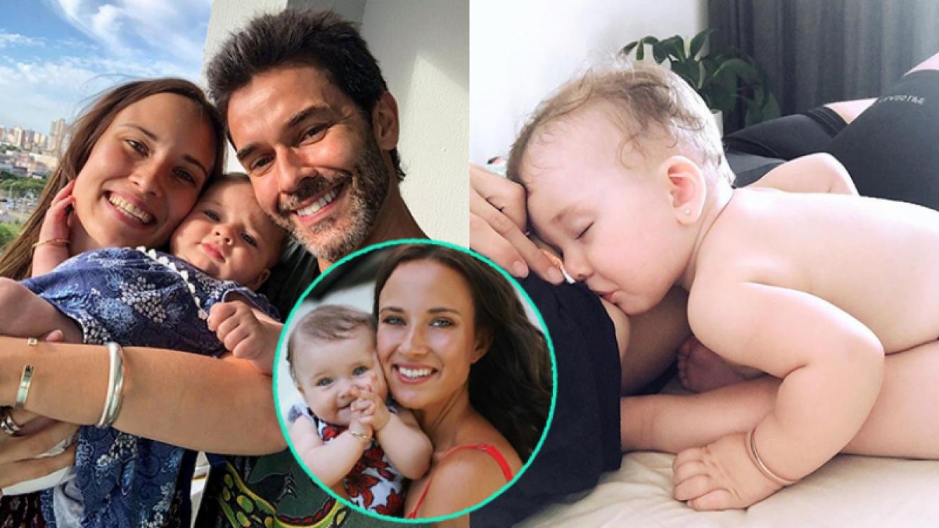 Camila Cavallo y una foto divina amamantando a su beba.