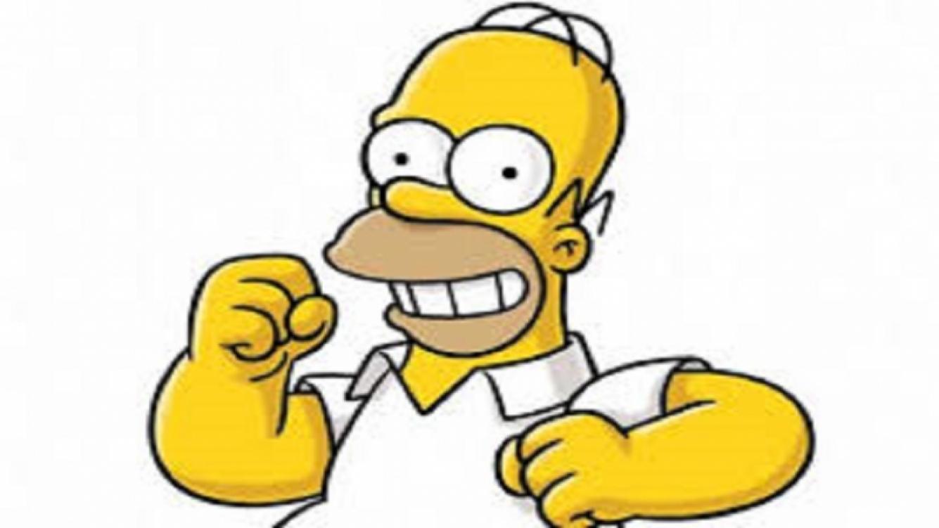 Homero Simpson sorprendió a los pasajeros de Aerolíneas Argentinas