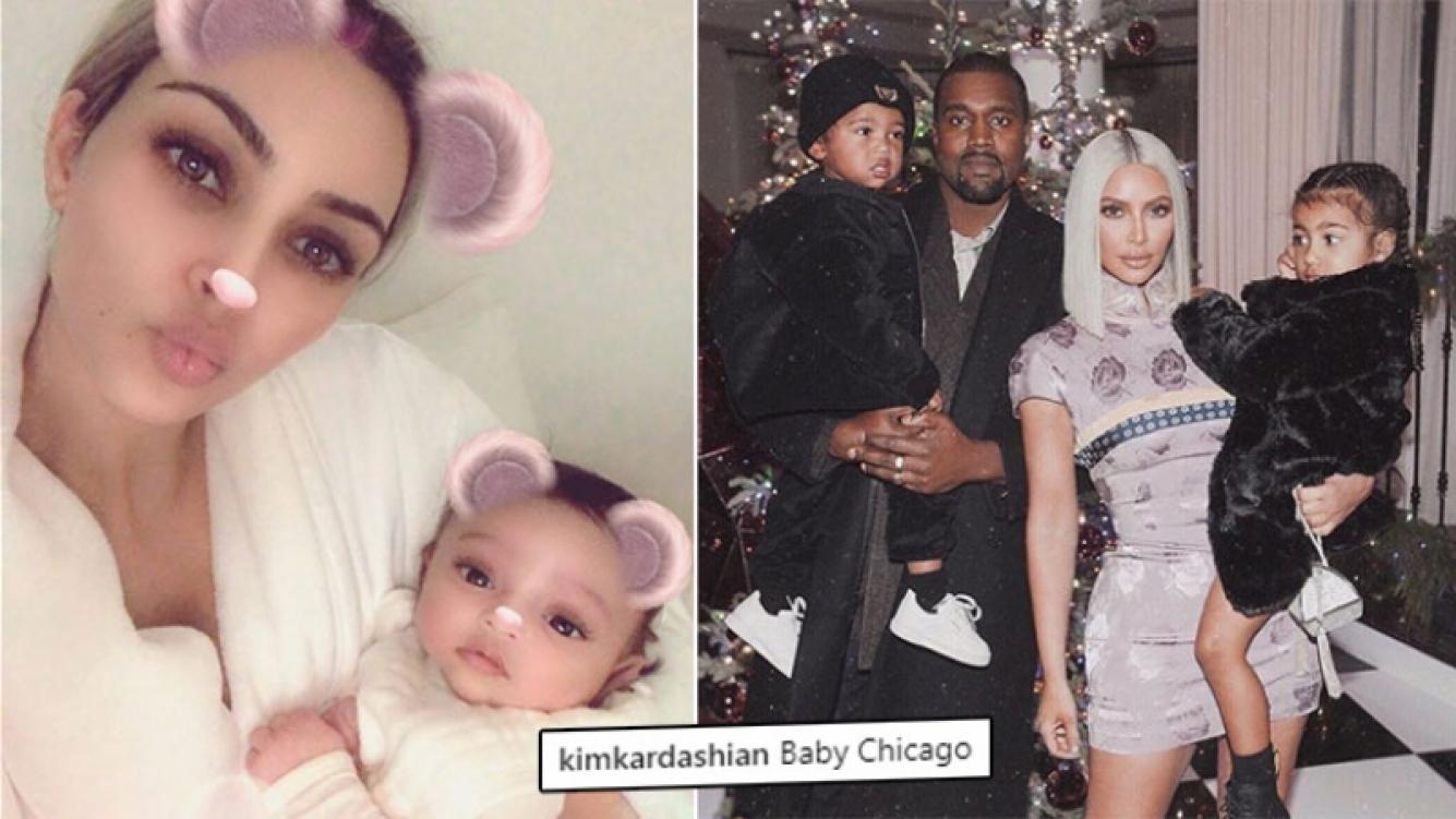 Kim Kardashian presentó a su tercera hija.
