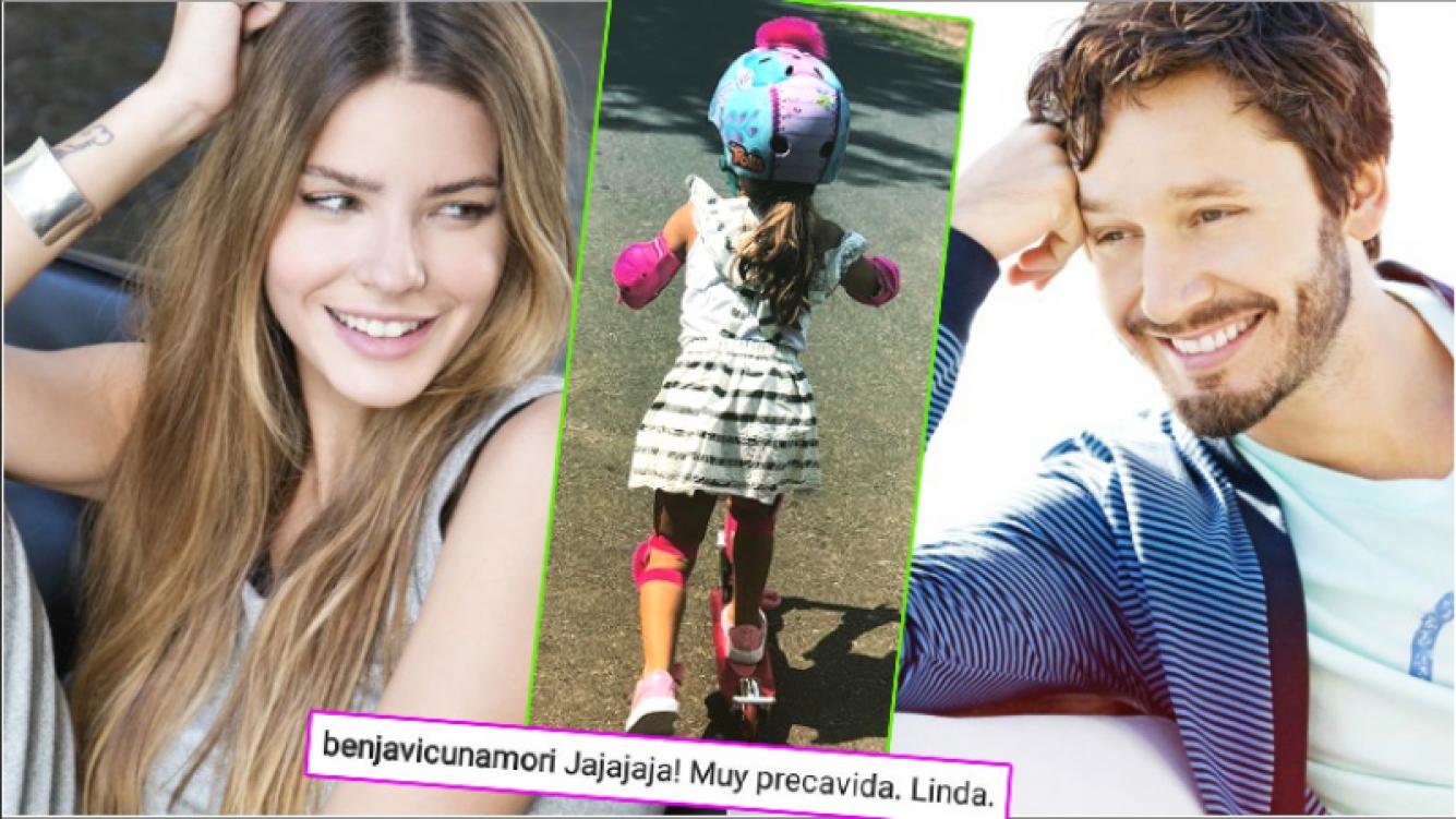 El tierno mensaje de Benjamín Vicuña a una foto de Rufina, la hija de la China Suárez (Fotos: Web e Instagram)