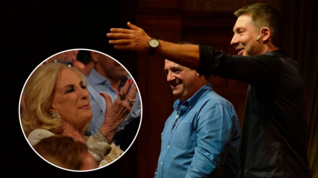 Mirtha Legrand, aplaudió de pie a Julio Chavez y Adrián Suar, en Un rato con él