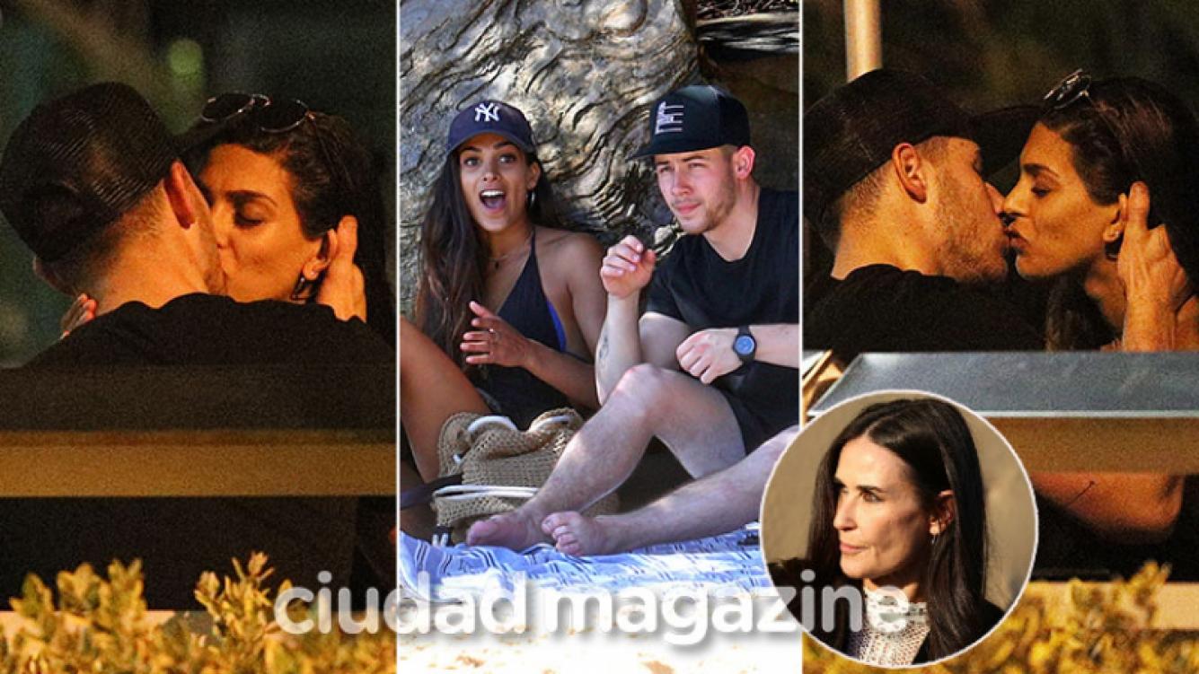 Nick Jonas, infraganti a los besos con una morocha a menos de un mes de ser relacionado con Demi Moore. (Foto: Grosby Group)