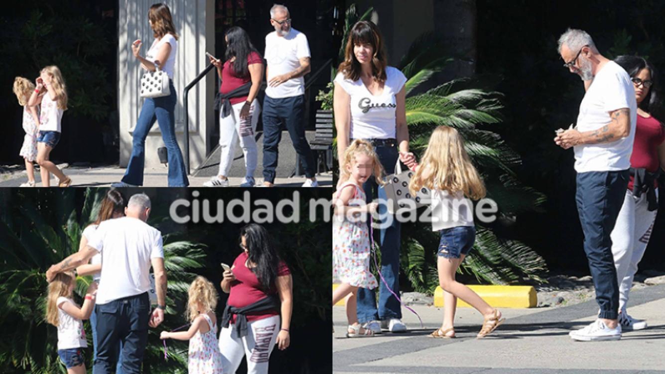 Jorge Rial y Romina Pereiro, enamorados con sus hijas (Fotos: Movilpress).