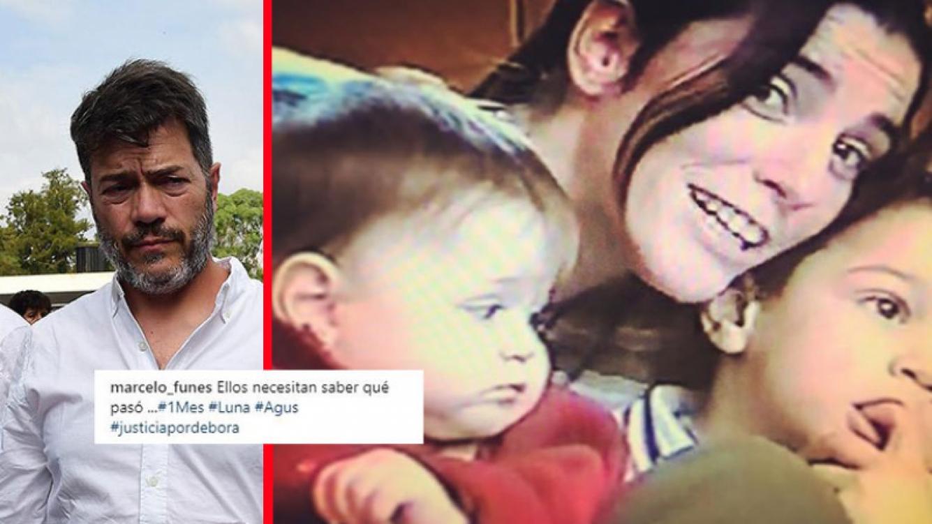 El emotivo posteo del exmarido de Débora Pérez Volpin, a un mes de su muerte