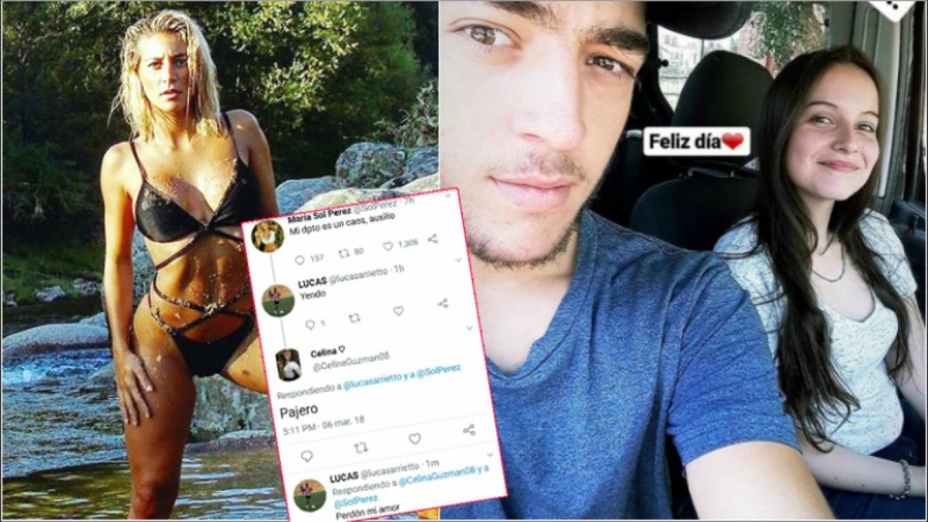 Un fan cordobés coqueteó con Sol Pérez... ¡y su novia lo enganchó! (Fotos: Instagram y Twitter)