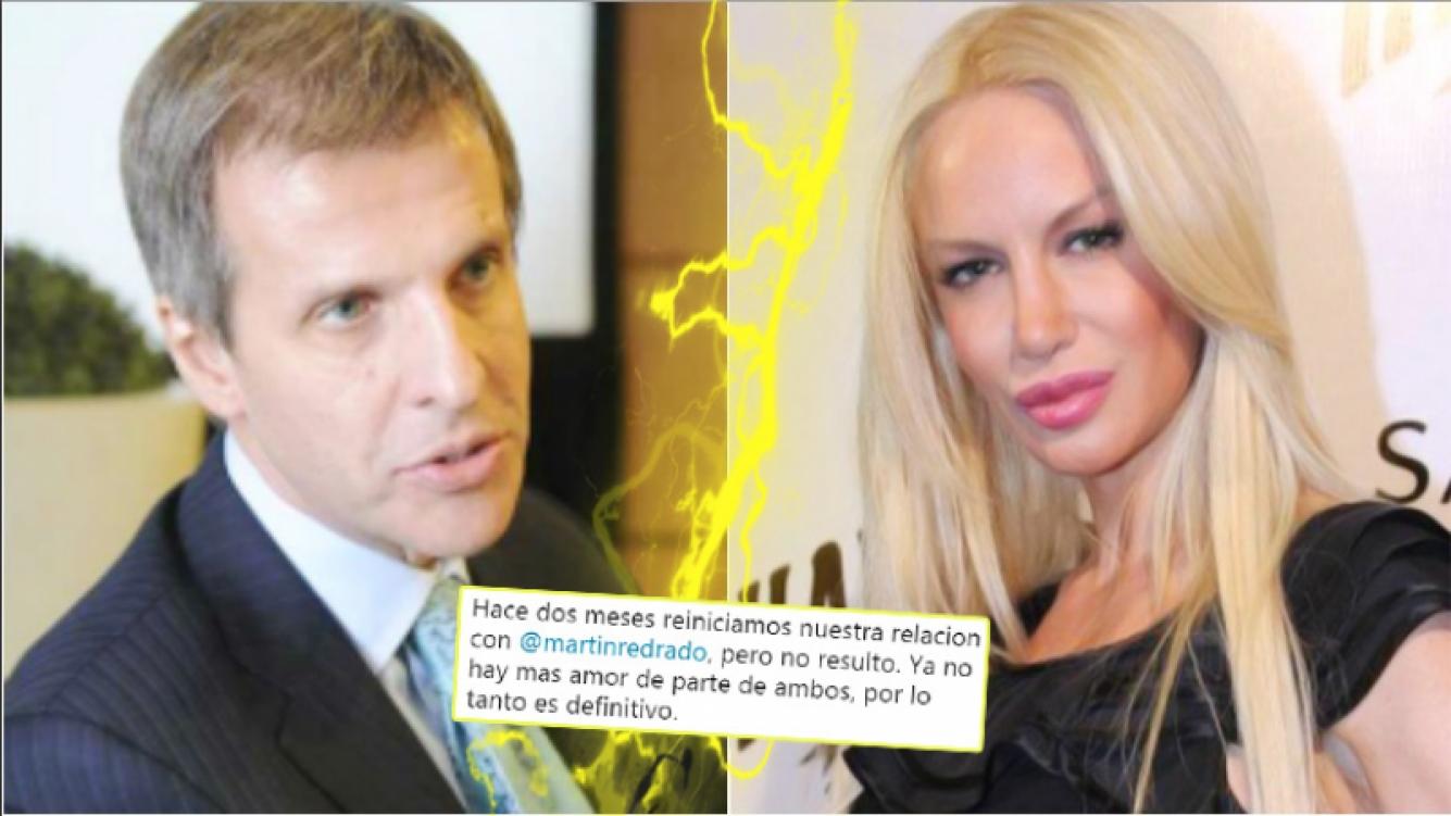 Luciana Salazar y Martín Redrado confirmaron su separación definitiva (Fotos: Web)