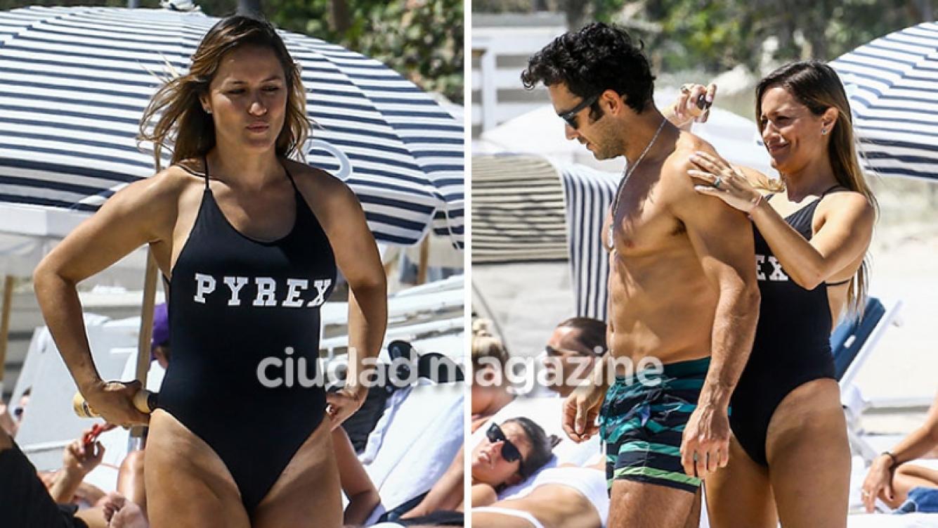 Lola Ponce y Aarón Díaz, de vacaciones en Miami. (Foto: Grosby Group)