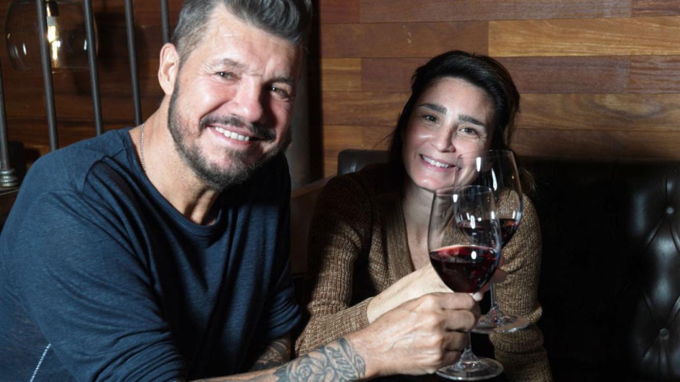 Marcelo Tinelli y Valeria Bertuccelli brindaron por el éxito de La Reina del Miedo