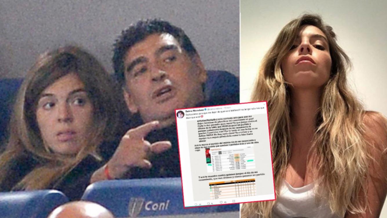Dalma Maradona respondió ante las dudas por la presencia de Diego en su casamiento.