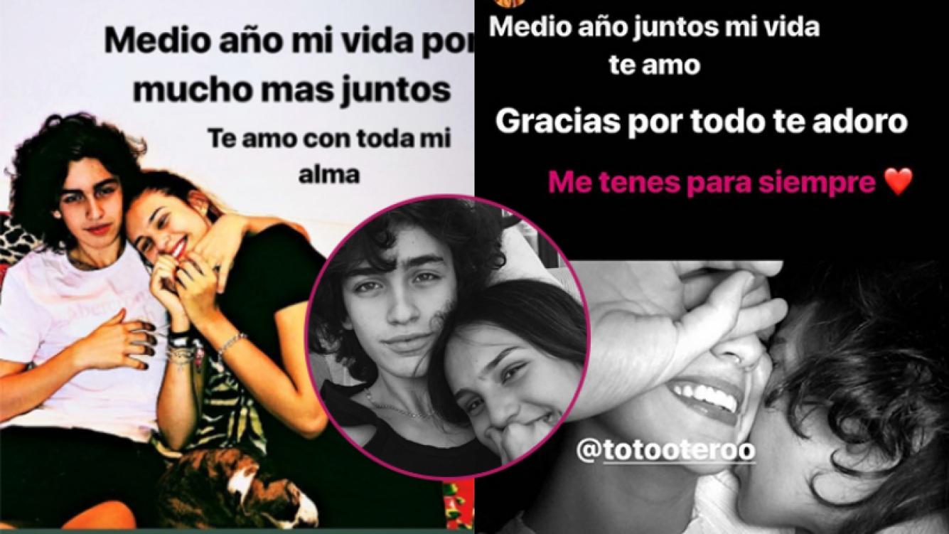 Juanita Tinelli y Tomás Otero, súper enamorados.