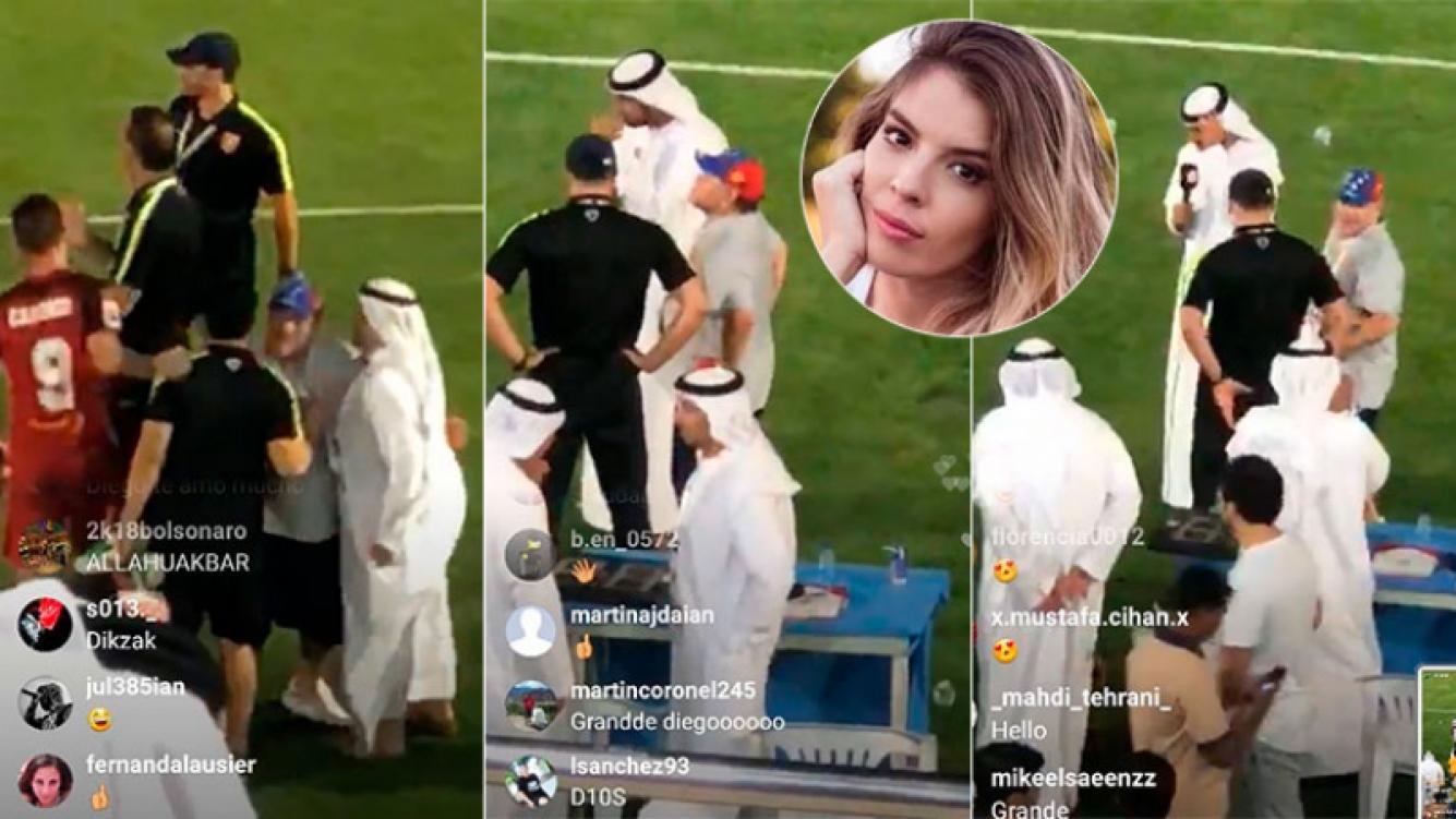 Maradona no estará en el casamiento de Dalma: las imágenes de Diego en Dubai