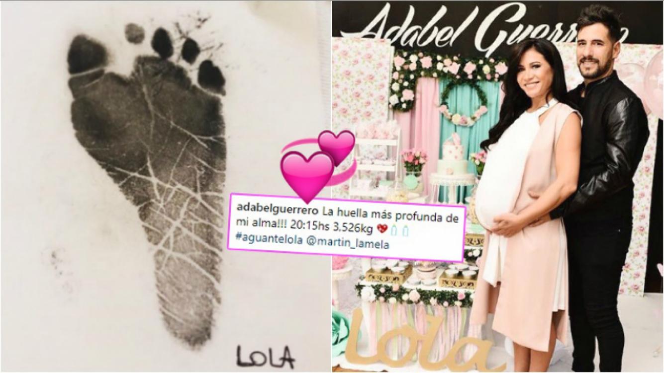 Adabel Guerrero anunció la llegada de su primera hija con una tierna foto (Fotos: Instagram)