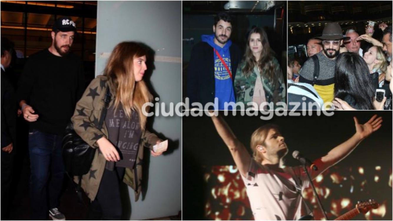 La primera salida de casados de Dalma Maradona y su esposo en el recital de Benjamín Amadeo. (Foto: Movilpress)
