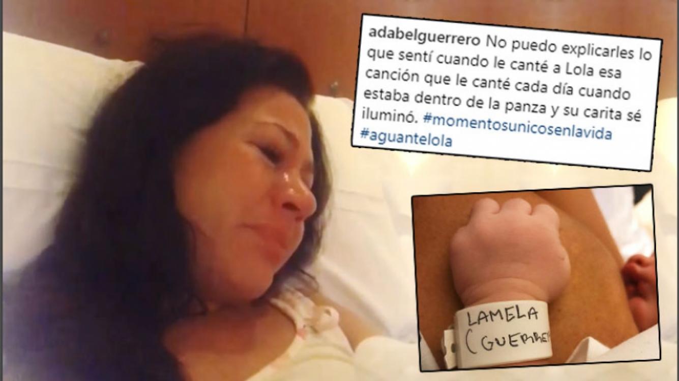 Adabel Guerrero, conmovida hasta las lágrimas al cantarle una canción de cuna a su beba, Lola: Momento único