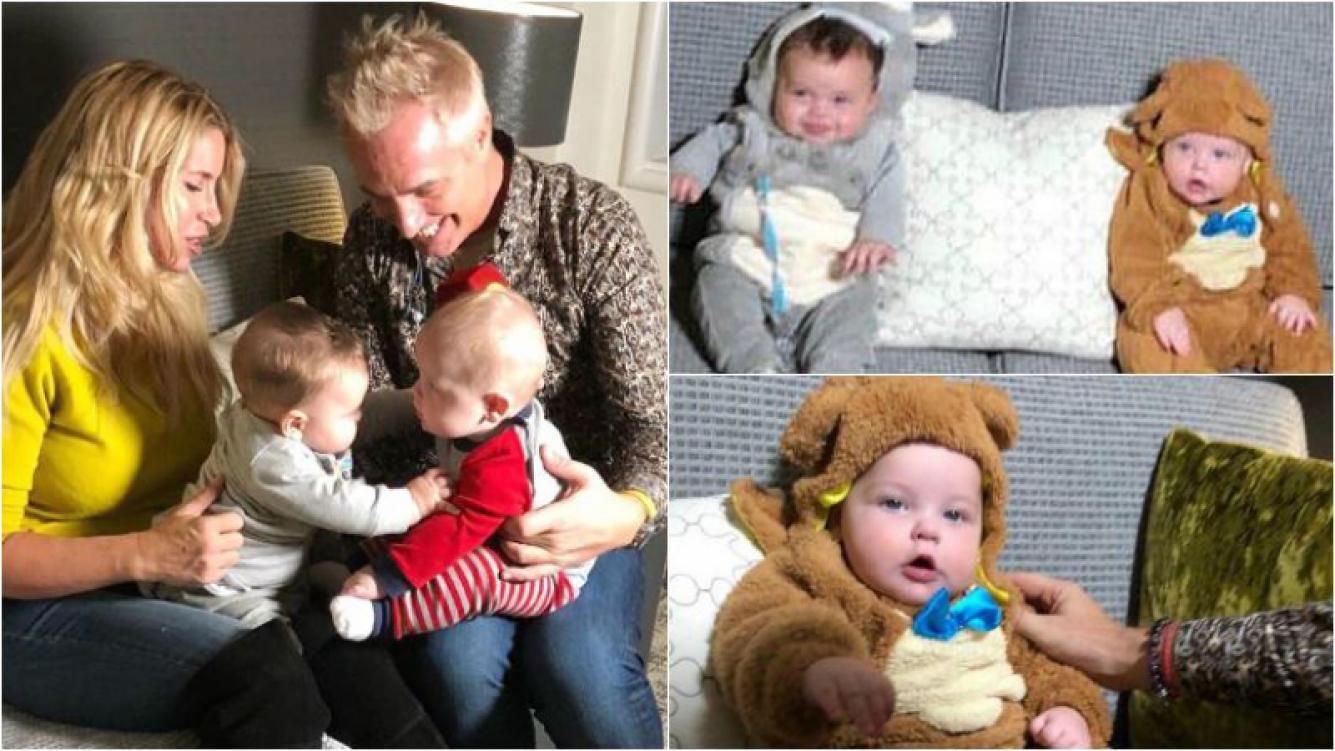 Las tiernas fotos de Mirko y Felipe, los hijos de Marley y Florencia Peña vestidos como un oso y una vaca