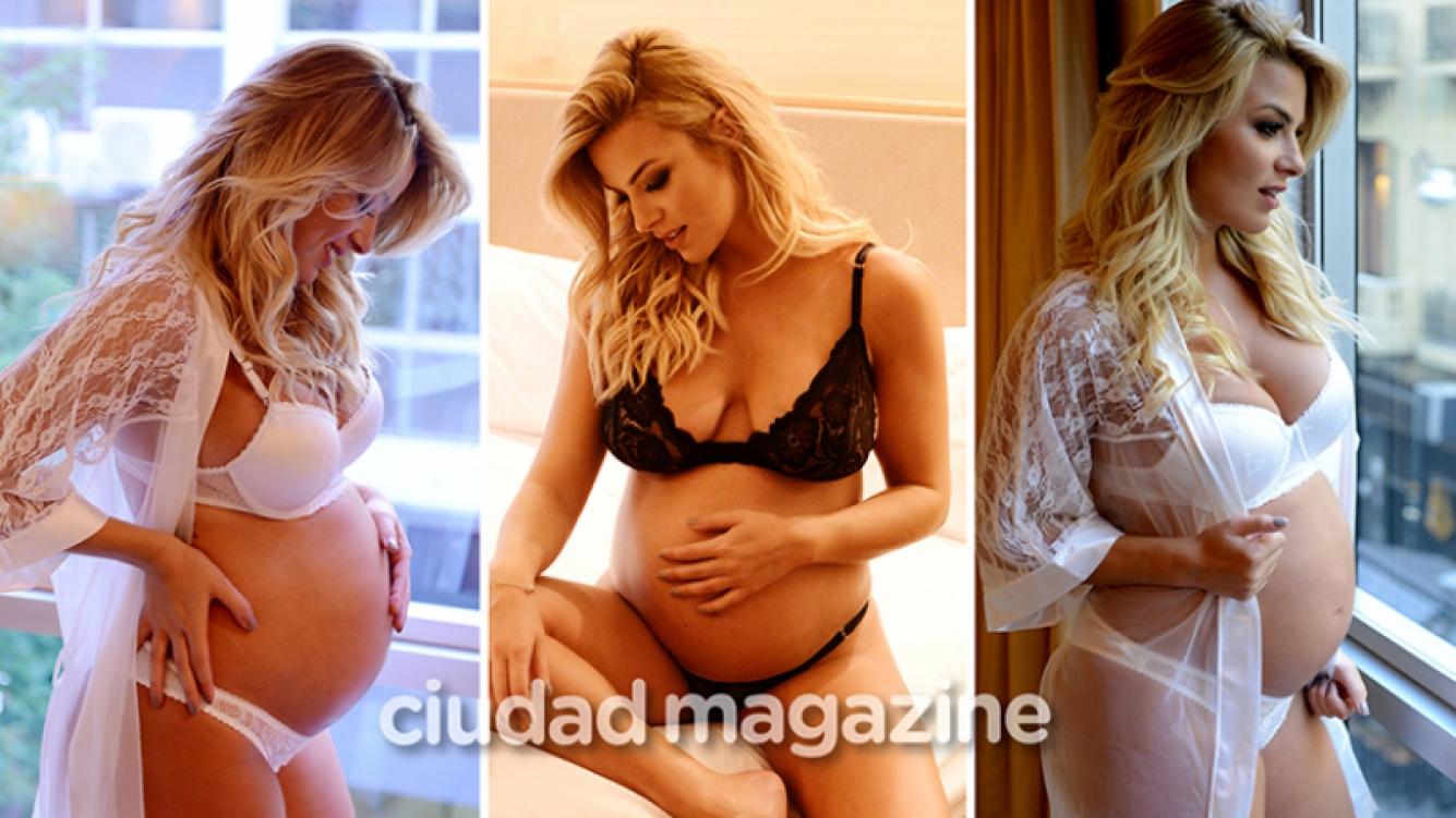 Ailén Bechara y su producción más especial con su pancita de 8 meses (Fotos: Musepic ).